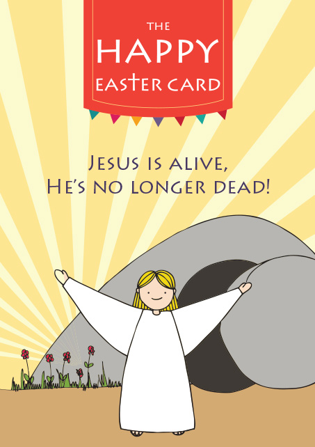 Happy Easter Card front page